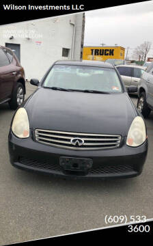 2005 Infiniti G35 for sale at Wilson Investments LLC in Ewing NJ