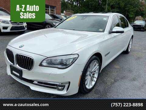2015 BMW 7 Series for sale at A-Z Auto Sales in Newport News VA