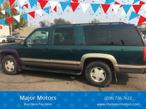 1998 GMC Suburban for sale at Major Motors in Twin Falls ID
