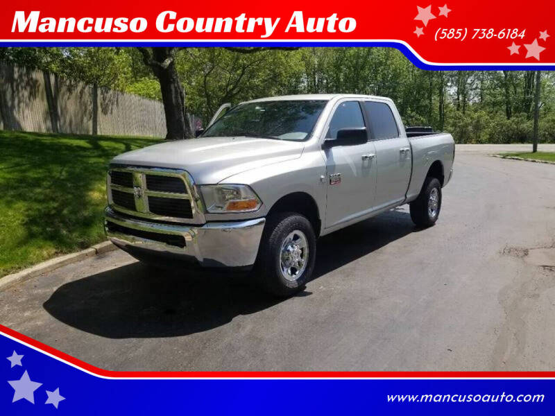 2012 RAM Ram Pickup 2500 for sale at Mancuso Country Auto in Batavia NY