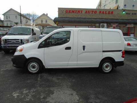 2013 Nissan NV200 for sale at Gemini Auto Sales in Providence RI