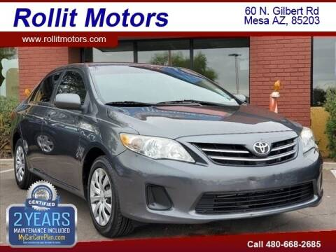 2013 Toyota Corolla for sale at Rollit Motors in Mesa AZ
