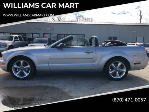 2005 Ford Mustang for sale at WILLIAMS CAR MART in Gassville AR