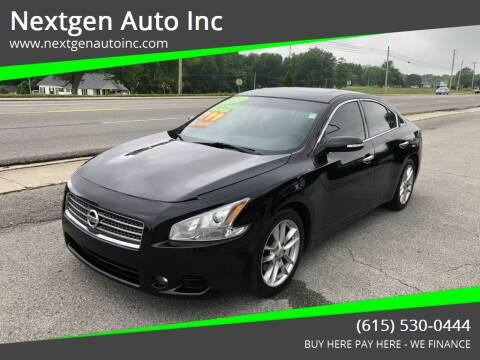 2011 Nissan Maxima for sale at Nextgen Auto Inc in Smithville TN