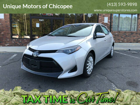 2018 Toyota Corolla for sale at Unique Motors of Chicopee in Chicopee MA