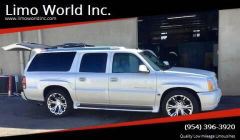 2004 Cadillac Escalade ESV for sale at Limo World Inc. in Seminole FL