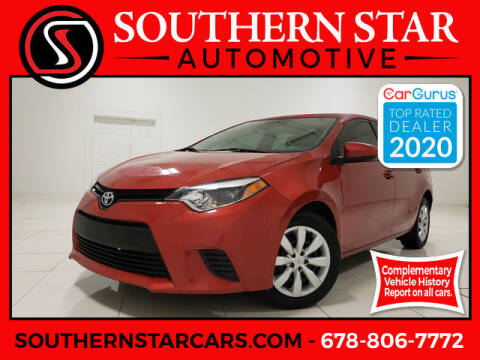 2014 Toyota Corolla for sale at Southern Star Automotive, Inc. in Duluth GA