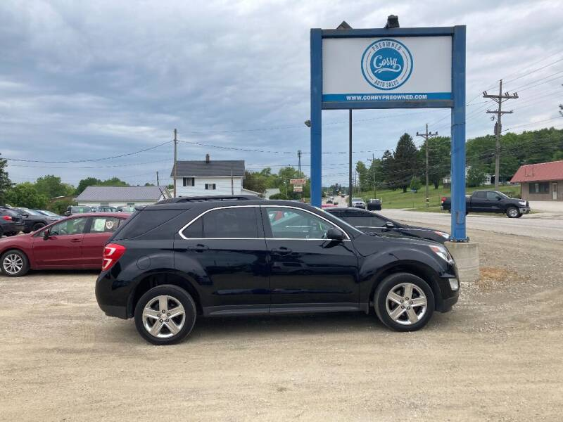 2016 Chevrolet Equinox for sale at Corry Pre Owned Auto Sales in Corry PA