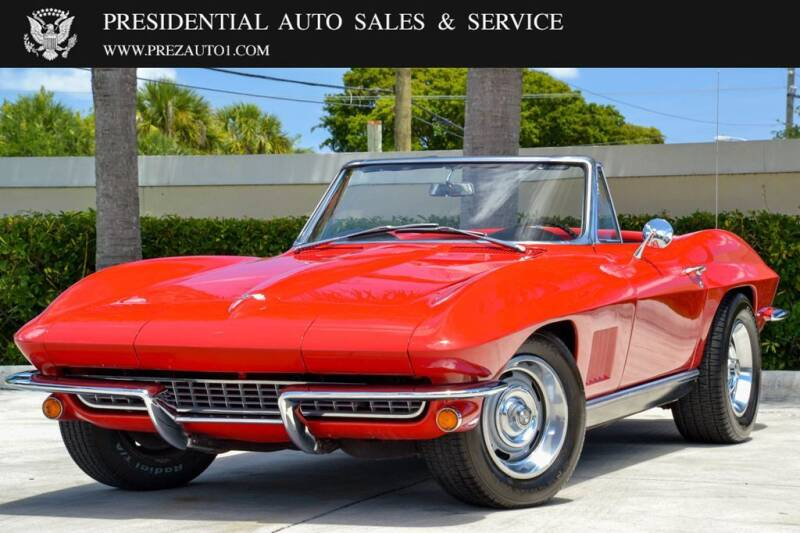 1967 Chevrolet Corvette for sale at Presidential Auto  Sales & Service in Delray Beach FL