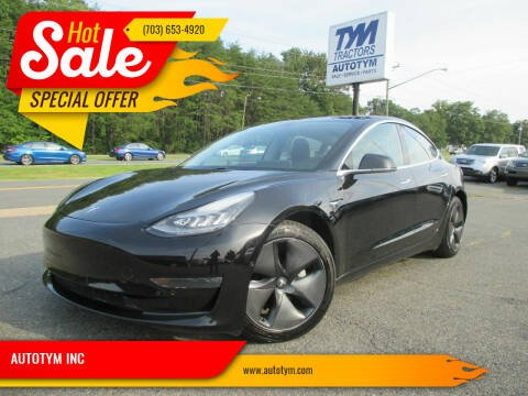 2018 Tesla Model 3 for sale at AUTOTYM INC in Fredericksburg VA