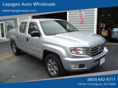 2012 Honda Ridgeline for sale at Lepages Auto Wholesale in Kingston NH
