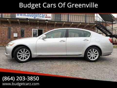 2006 Lexus GS 300 for sale at Budget Cars Of Greenville in Greenville SC