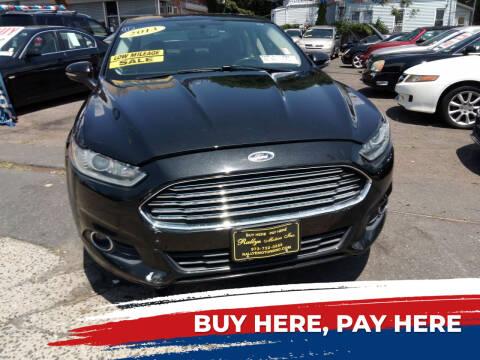 2013 Ford Fusion Energi for sale at Rallye  Motors inc. in Newark NJ