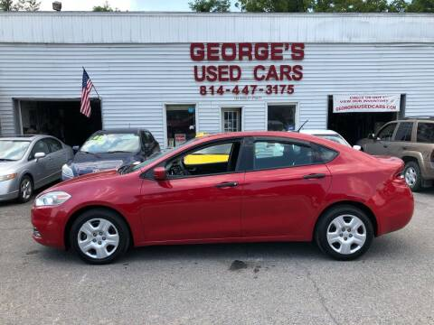 2013 Dodge Dart for sale at George's Used Cars Inc in Orbisonia PA