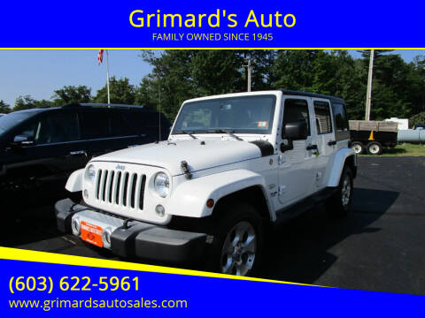 2015 Jeep Wrangler Unlimited for sale at Grimard's Auto in Hooksett NH