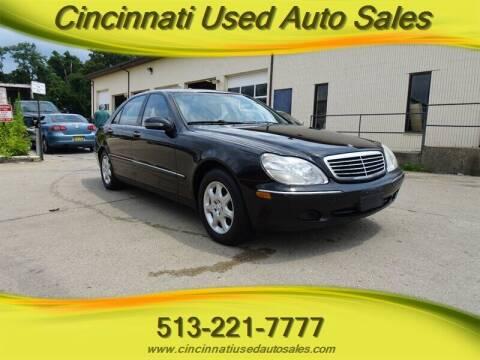 2002 Mercedes-Benz S-Class for sale at Cincinnati Used Auto Sales in Cincinnati OH