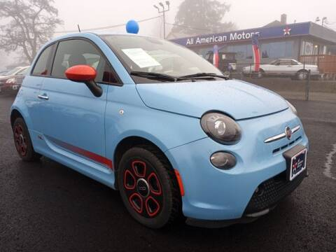 2015 FIAT 500e for sale at All American Motors in Tacoma WA