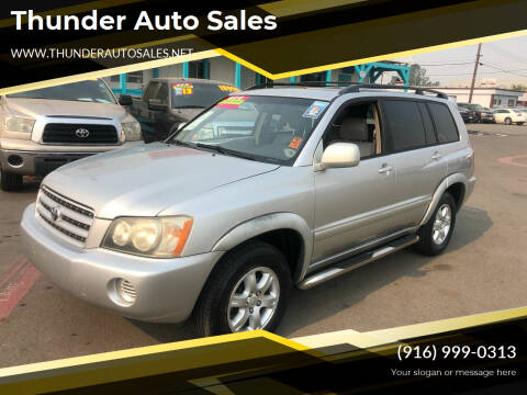 2002 Toyota Highlander for sale at Thunder Auto Sales in Sacramento CA