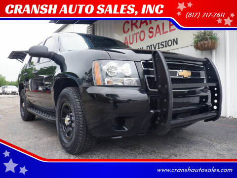 2012 Chevrolet Tahoe for sale at CRANSH AUTO SALES, INC in Arlington TX
