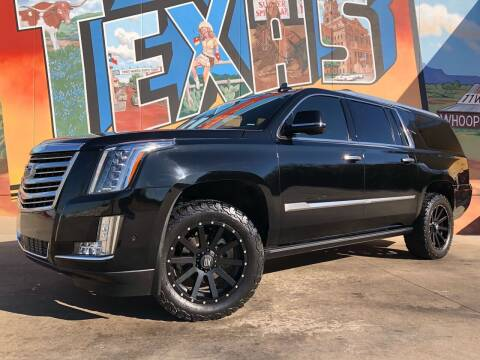 2017 Cadillac Escalade ESV for sale at Sparks Autoplex Inc. in Fort Worth TX