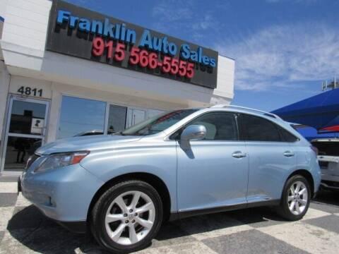 2010 Lexus RX 350 for sale at Franklin Auto Sales in El Paso TX
