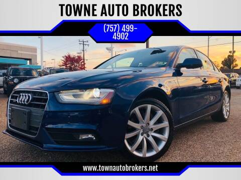 2013 Audi A4 for sale at TOWNE AUTO BROKERS in Virginia Beach VA