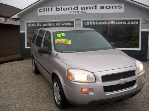 2008 Chevrolet Uplander for sale at Cliff Bland & Sons Used Cars in El Dorado Spg MO