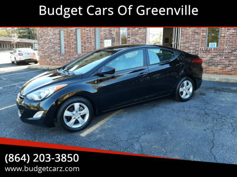 2012 Hyundai Elantra for sale at Budget Cars Of Greenville in Greenville SC