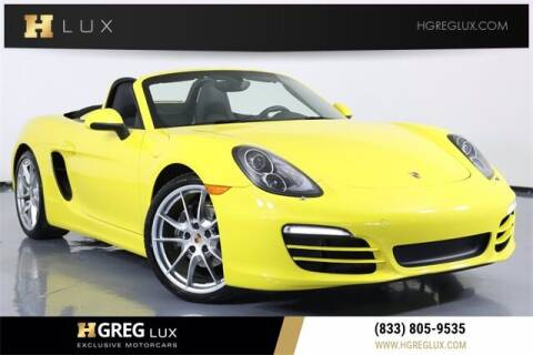 2014 Porsche Boxster for sale at HGREG LUX EXCLUSIVE MOTORCARS in Pompano Beach FL