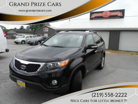 2012 Kia Sorento for sale at Grand Prize Cars in Cedar Lake IN