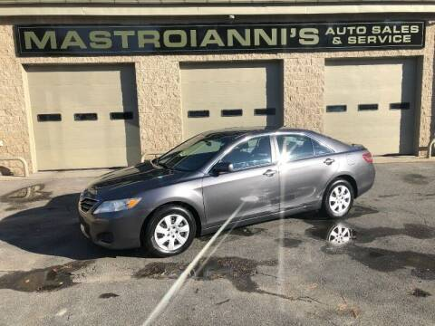 2011 Toyota Camry for sale at Mastroianni Auto Sales in Palmer MA