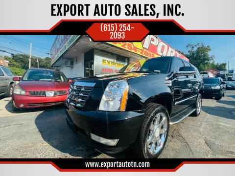 2007 Cadillac Escalade for sale at EXPORT AUTO SALES, INC. in Nashville TN