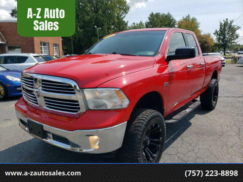 2014 RAM Ram Pickup 1500 for sale at A-Z Auto Sales in Newport News VA
