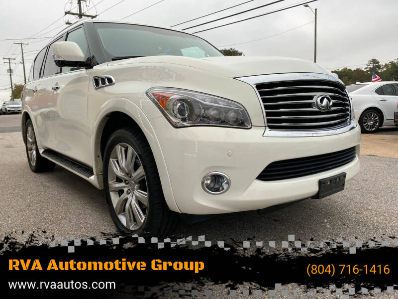 2012 Infiniti QX56 for sale at RVA Automotive Group in North Chesterfield VA
