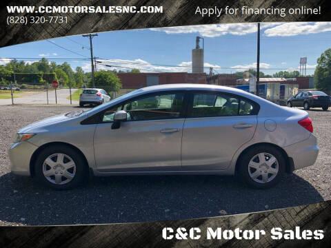 2012 Honda Civic for sale at C&C Motor Sales LLC in Hudson NC