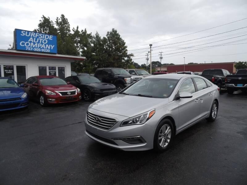 2015 Hyundai Sonata for sale at Surfside Auto Company in Norfolk VA