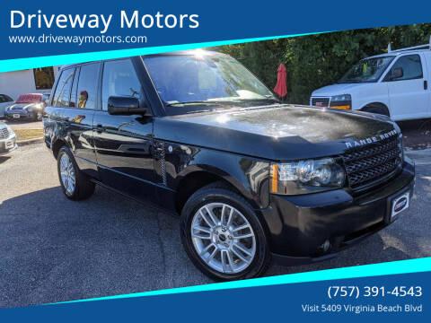 2012 Land Rover Range Rover for sale at Driveway Motors in Virginia Beach VA
