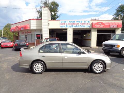 2004 Honda Civic for sale at Bickel Bros Auto Sales, Inc in Louisville KY