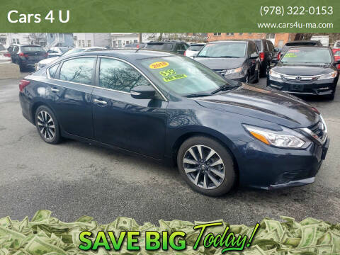 2018 Nissan Altima for sale at Cars 4 U in Haverhill MA