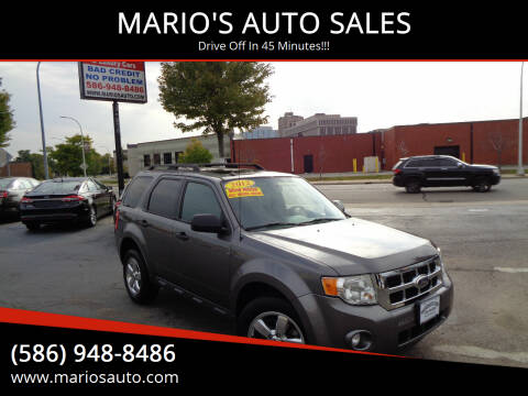 2012 Ford Escape for sale at MARIO'S AUTO SALES in Mount Clemens MI