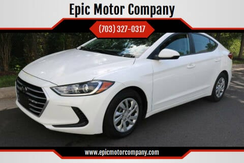 2017 Hyundai Elantra for sale at Epic Motor Company in Chantilly VA