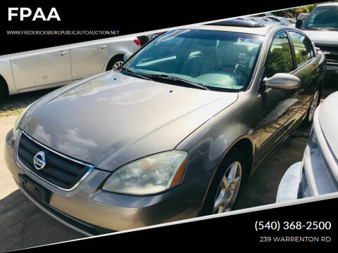 2003 Nissan Altima for sale at FPAA in Fredericksburg VA