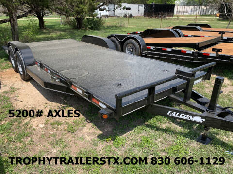 2021 FALCON 20' STEEL DECK CAR HAULER  for sale at Trophy Trailers in New Braunfels TX