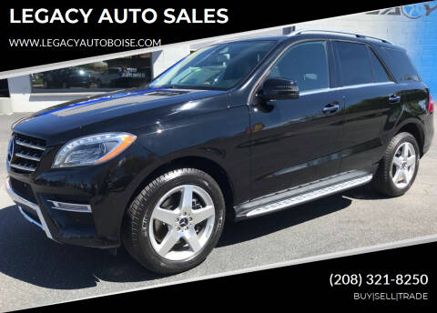 2014 Mercedes-Benz M-Class for sale at LEGACY AUTO SALES in Boise ID