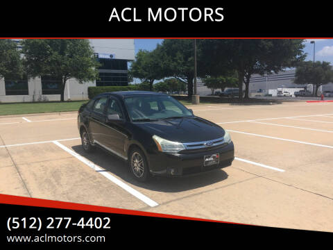 2010 Ford Focus for sale at ACL MOTORS in Austin TX