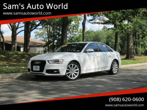 2014 Audi A4 for sale at Sam's Auto World in Roselle NJ