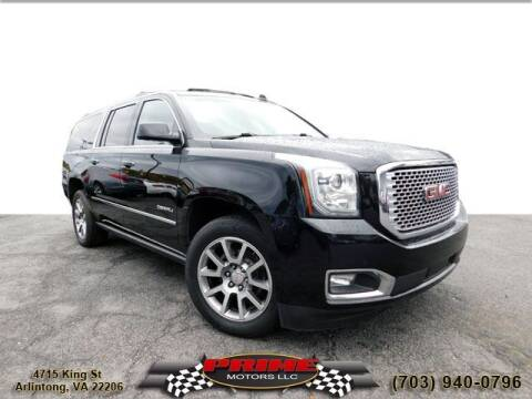 2016 GMC Yukon XL for sale at PRIME MOTORS LLC in Arlington VA