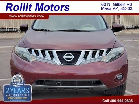 2009 Nissan Murano for sale at Rollit Motors in Mesa AZ