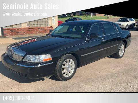 2009 Lincoln Town Car for sale at Seminole Auto Sales in Seminole OK