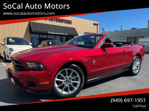 2011 Ford Mustang for sale at SoCal Auto Motors in Costa Mesa CA
